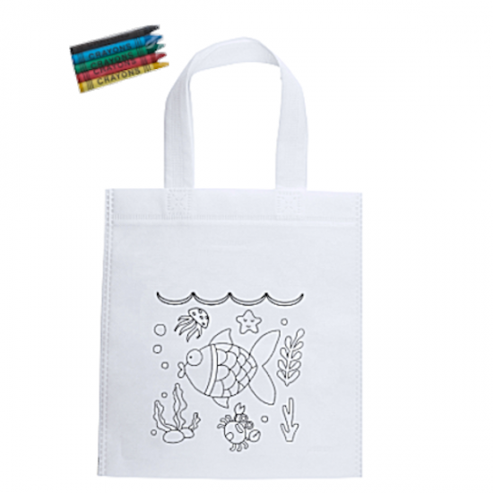 Δωράκι παιδική τσάντα με κηρομπογιές