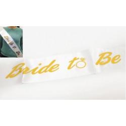 Κορδέλα σατεν bride to be 1.60mx9.5cm