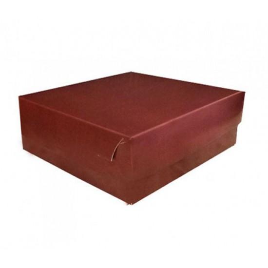 Κουτί χάρτινο μπορντό 22.5x22.5x8 cm