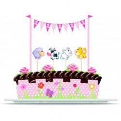Σετ διακόσμησης τούρτας- 1st Birthday Girl