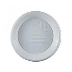Πιάτο πλαστικό λευκό μιας χρήσης 19 cm