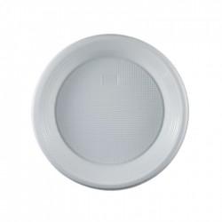 Πιάτο πλαστικό λευκό μιας χρήσης 17 cm