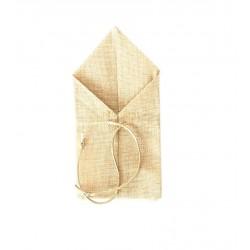 Πουγκί λινάτσα μυτερό με κορδόνι 9x18.5cm
