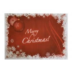Σουπλά χάρτινο 40x30 cm- Μerry Christmas