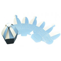 Κουτί χάρτινο αερόστατο γαλάζιο 8cm