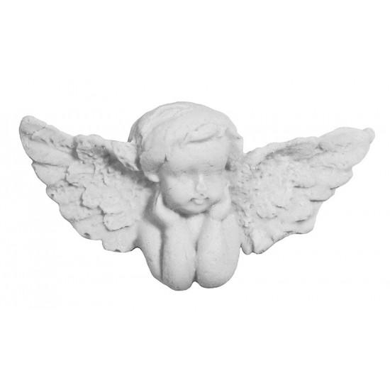 Αγγελάκι διακοσμητικό για δίσκο μνημοσύνου σε λευκό χρώμα 6x3 cm