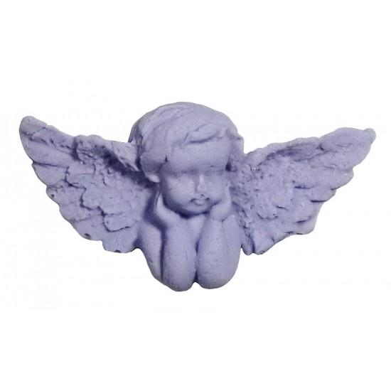 Αγγελάκι διακοσμητικό για δίσκο μνημοσύνου σε μωβ χρώμα 6x3 cm