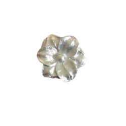 Λουλούδι ασημένιο μικρό διακοσμητικό για δίσκο μνημοσύνου 3.2x3.2 cm