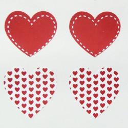 Αυτοκόλλητα καρδιές 28 τμχ
