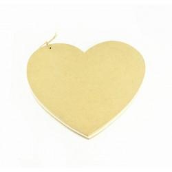 Βιβλίο ευχών ξύλινο αστόλιστο καρδιά