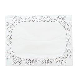 Δαντέλα χάρτινη λευκή ορθογώνια 40x30cm