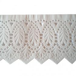 Δαντέλα χάρτινη μνημοσύνου λευκή 60x9 cm
