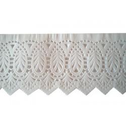 Δαντέλα χάρτινη μνημοσύνου λευκή 60x9 cm - 100 τεμάχια