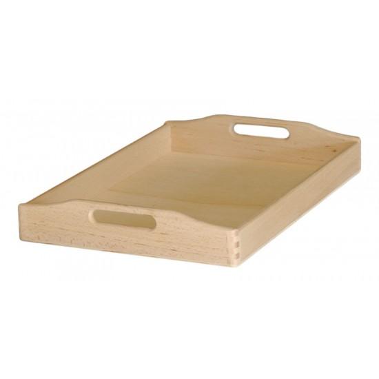 Δίσκος μνημοσύνου ξύλινος με λαβή 55x40x7 cm