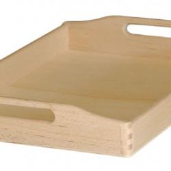 Δίσκος μνημοσύνου ξύλινος με λαβή 50x35x7 cm