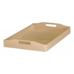 Δίσκος μνημοσύνου ξύλινος με λαβή 45x30x7cm