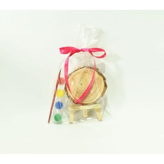 Μικροδωράκι ξύλινος κορμός με χρώματα 10x13cm