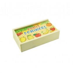 Ξύλινο ντόμινο 15x9cm με φρούτα
