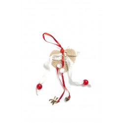 Γούρι χριστουγεννιάτικο σχέδιο καρδιά με κουτί