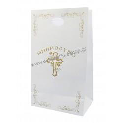 Τσάντα χάρτινη μνημοσύνου χούφτα 15,5x8,5x26 cm