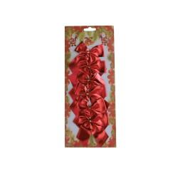 Φιόγκοι 6 τεμαχίων- χρώμα κόκκινο
