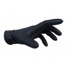 Γάντια νιτριλίου μαύρα ενισχυμένα 100 τεμαχίων