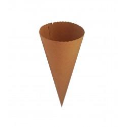Χωνάκι χάρτινο 300gr 15,5x6,5cm kraft (κραφτ)