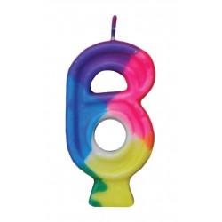 Κεράκι γενεθλίων αριθμός 6 - κωδ. 50