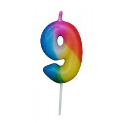 Κεράκι γενεθλίων αριθμός 9