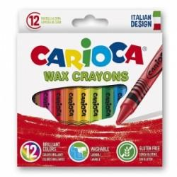 Κηρομπογιές carioca 12 χρωμάτων