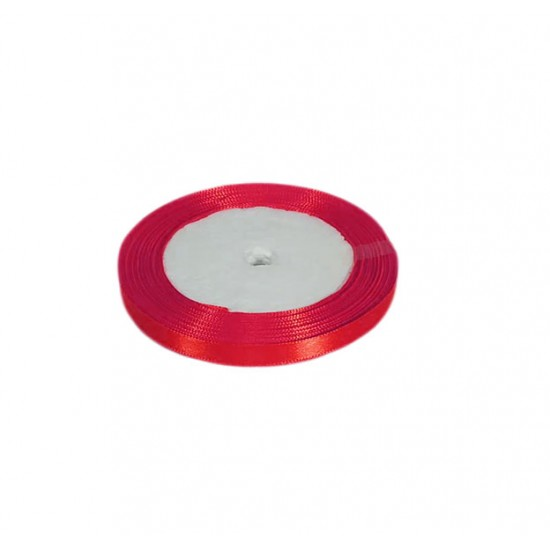 Κορδέλα σατέν 22m x1cm - Κόκκινη