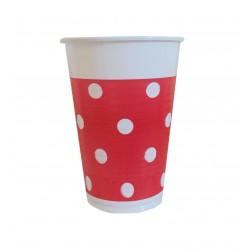 Ποτήρι πλαστικό 200ml - Πασχαλίτσα κόκκινο πουά
