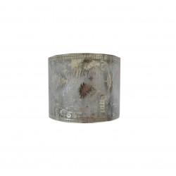 Κορδέλα χριστουγενιάτικη 6,3cm x 5,5m με στάμπα - Ασημενια