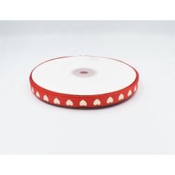 Κορδέλα καρδούλες grosgrain 1cmx50m