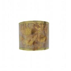 Κορδέλα χριστουγενιάτικη 6,3cm x 5,5m με στάμπα - Χρυσή