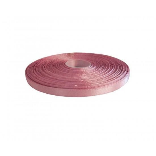 Κορδέλα σατέν 6mm x 50 m- Ροζ κουφετί