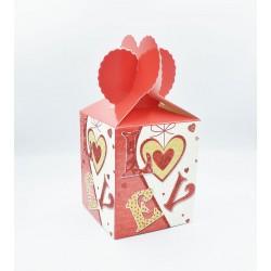 Κουτί χάρτινο love 8.5x8.5x10cm