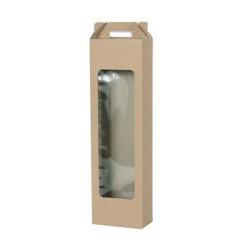 Κουτί λαμπάδας με παράθυρο κραφτ (kraft) 12.5x7.5x45cm