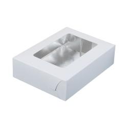 Κουτί μνημοσύνου χάρτινο με παράθυρο σε λευκό χρώμα 17x12x4.5 cm