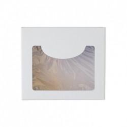 Κουτί χάρτινο με παράθυρο λευκό χρώμα 15x13x4 cm