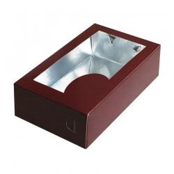 Κουτί μνημοσύνου χάρτινο με παράθυρο 22x13x6.5 cm