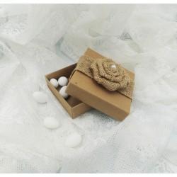 Κουτί χάρτινο kraft (κραφτ) με καπάκι 8.5x8.5x2.5cm