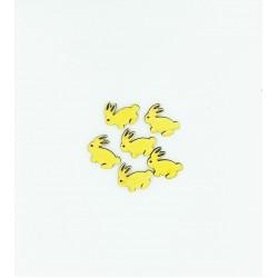 Ξύλινα διακοσμητικά λαγουδάκια 2.5cm 10τμχ