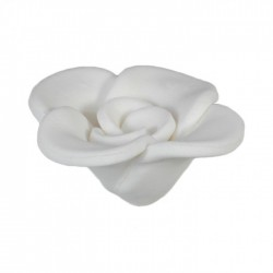 Λουλούδι λευκό διακοσμητικό για δίσκο μνημοσύνου 7x7x4 cm