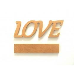 Ξύλινο διακοσμητικό LOVE με βάση