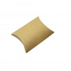 Χαρτινο κουτί kraft (κραφτ) μπομπονιέρας μαξιλάρι 12x8.5cm