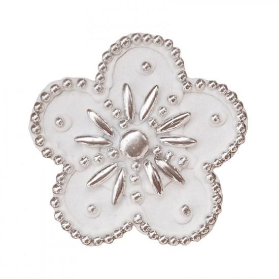 Μαργαρίτα διακοσμητική για δίσκο μνημοσύνου 7x7 cm