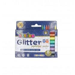 Μαρκαδόροι ζωγραφικής glitter 8 τμχ