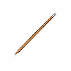 Μολύβι 2B ριγέ με γόμα -τεμάχιο