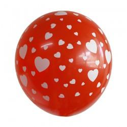 Μπαλόνια με σχέδιο καρδιές
